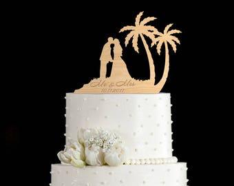 Tropical wedding cake topper,travel wedding cake,tropical wedding cake,travel themed cake topper,tropical wedding topper,tropical,6952017