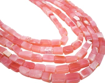 Pink Opal Beads, Pink Peruvian Opal, Peruvian Pink Opal, Rectangle Shape, SKU 4174A