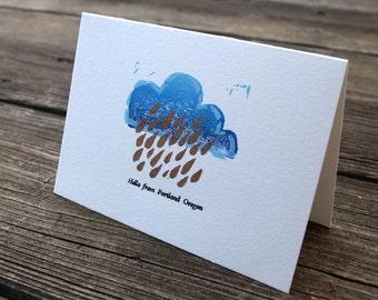 Hello from rainy Portland card