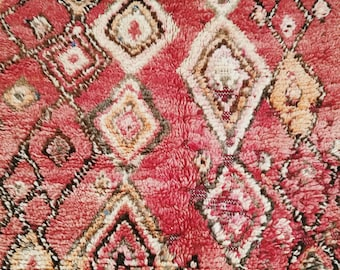 Berber carpet of the Moroccan Middle Atlas in the colors TERRACOTTA