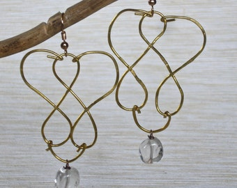Handmade earrings Night-time necklaces birthday gift for her fashion mother's Day fashionable brass