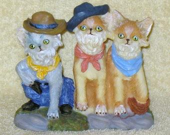 Vintage Senior cat trio