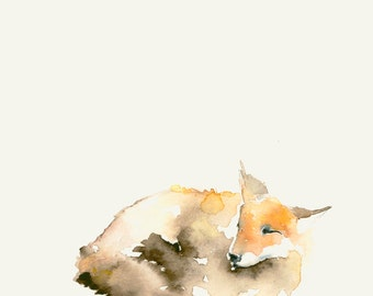 Art Card Blank Greeting Card Fox