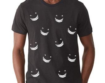 Cheshire Cat t-shirt, Smiles, Glow-in-the-Dark  Mens graphic tee, Alice in Wonderland, Gift, Art T-shirt, Cool t-shirt