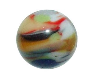 "Tiny Murano Marble Glass Vintage 3/8"" Button"