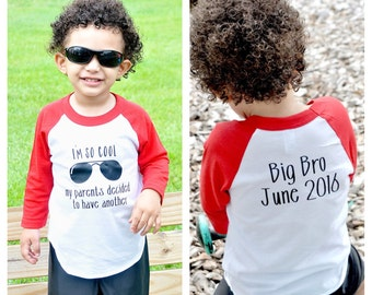 Promoted To Big Brother shirt, I'm so cool my parents are having another, pregnancy announcement, big brother announcement shirt