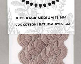 Naturally Dyed 8mm Rick Rack-Lavender