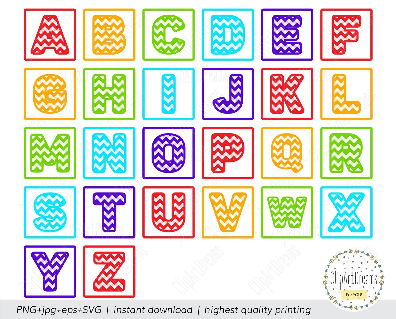 Chevron Block Font Svg Chevron Block Letters Alphabet Svg Files