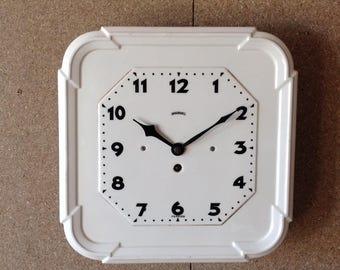 Large Ceramic Wall Clock - Ingersoll Clock - Art Deco Wall Clock - Vintage Ceramic Clock
