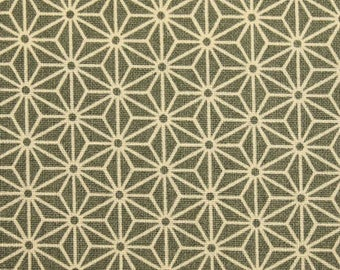 Japanese Asanoha fabric - Sevenberry - pattern geometric Asanoha traditional gray - by 50 cm (110 x)