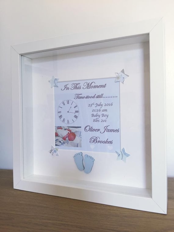 Items similar to New Baby Box Frame, New Baby, Baby Boy, Baby Girl ...