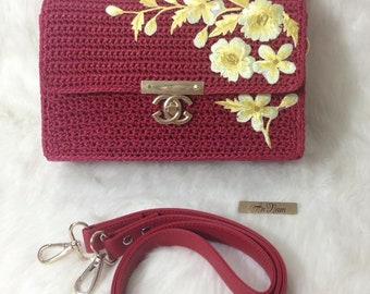 Crocheted bag-Handmade bag-crochet small bag-bag-bag-box bag - MTmini 10