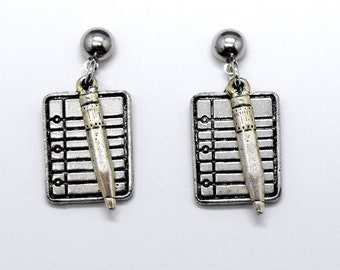 School Notebook Pencil Earrings Student Teacher Gift Themed Jewelry