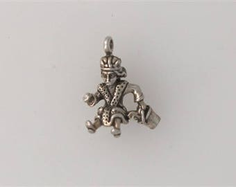 Sterling Silver 3-D King in His Counting House Charm