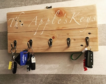 Handcrafted Rustic Upcycled and Reclaimed Keyring Holder