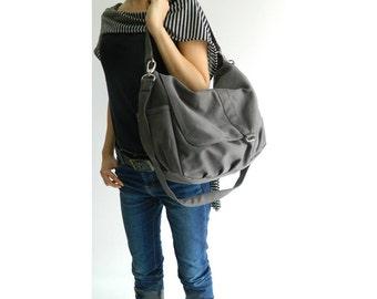 Gray messenger bag, cross body bag,back to School bag, Mom shoulder bag, gift for her, travel handbag /Sale 25 % -no.18 -DANIEL