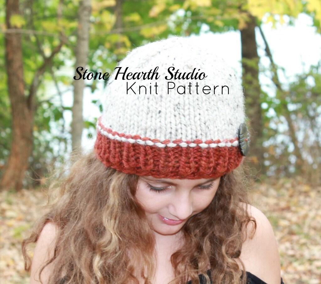 Dorable Stocking Cap Knit Pattern Regalo - Manta de Tejer Patrón de ...