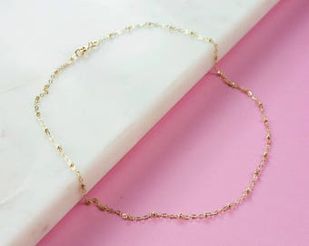 Delicate Gold Filled Necklace, Delicate Chain Necklace, Short Necklace, Simple Necklace, Gold Fill Necklace, Minimal gold filled necklace