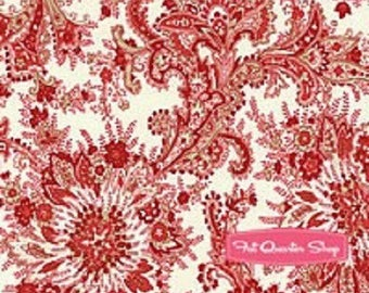 Patchwork fabric, Moda style red flowers on off white 148/1012 cashmere