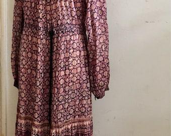 Vintage Indian Gauze Hippie Dress