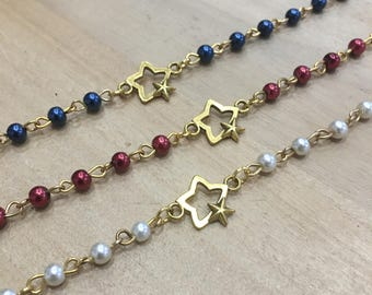 Rosary-mounted bracelets with golden Star interlude