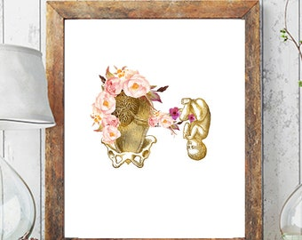 Printable Birth Art, Obgyn Gift, Pregnancy Art Doula Art Baby Shower Gift Digital Midwife Gift, Doula Gift Medical Office Art Gynecology Art