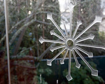 Fused Glass Snowflake or Suncatcher