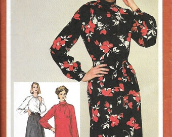 Simplicity 9756 Misses Dress Or Top And Skirt Sewing Pattern, Size 12, 14 & 18/20, UNCUT