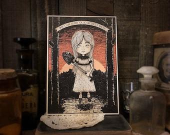 Bury Our Secrets - print - goth - kids