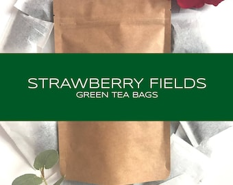 Strawberry Blended Green Tea Bags