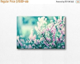 ON SALE flower canvas print botanical 12x12 24x36 floral photography canvas wrap botanical photography canvas print flower art gallery teal