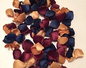 Navy Rose Petals/Gold Rose Petals/Burgundy Rose Petals/Navy Wedding Decor/Country Wedding/Maroon Rose Petals/Gold Wedding/Autumn Wedding