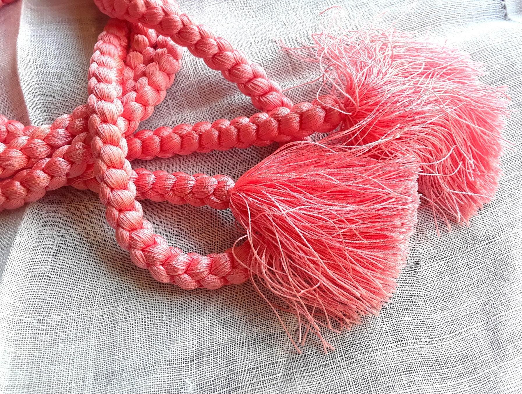 Handfasting Handfastening Wedding Cord Rose Pink Braided