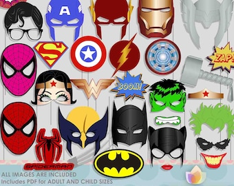 SALE!! Super Hero Photo Booth Props