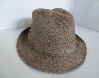 Vintage Knox New York Tweed Fedora