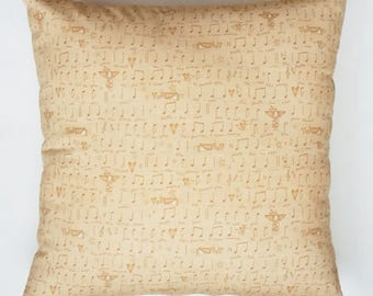 Pillow with musical notes