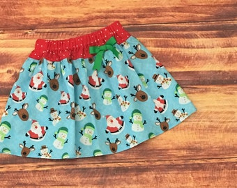 Christmas Skirt Toddler, Christmas Skirt, Girls Christmas Outfit, Baby Christmas Skirt, Baby Santa Skirt, Girls Santa Skirt, Handmade