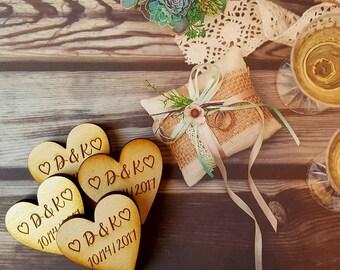 Wedding Favor, Heart Magnets - Qty 50, Wedding Magnets, Bride, Groom, Wedding Favours