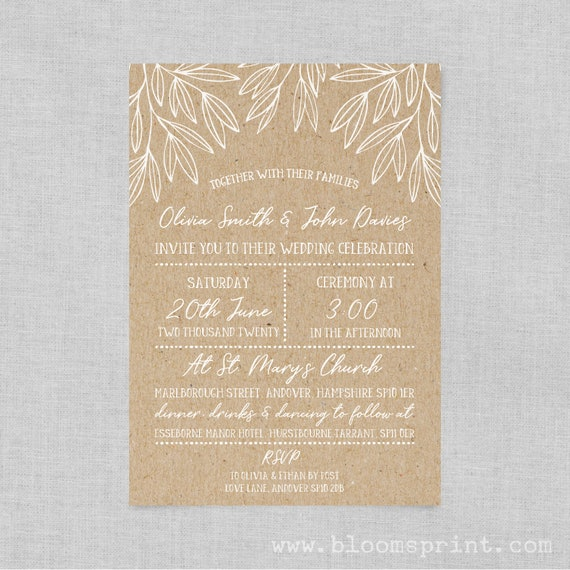 Boho chic wedding invite suite, Chalkboard wedding invitation boho, Floral wedding invites rustic, Bohemian Wedding Invitation Suite, A5