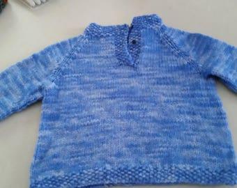 Placket Neck Pullover