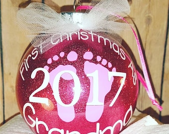 First Christmas As.... personalized Christmas ornament