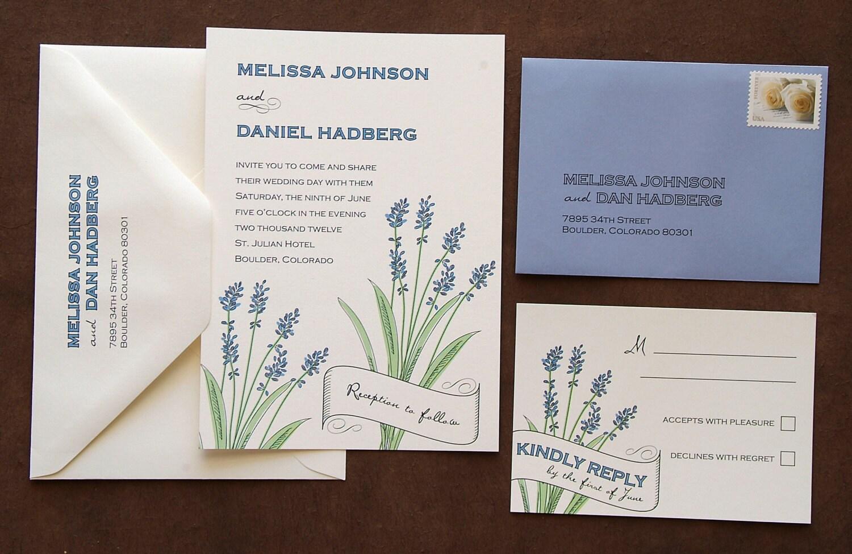 Lavender Wedding Invitation Suite