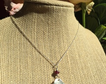 Handmade Sterling Flower necklace