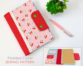 Journal Cover Sewing Pattern   Diary Cover Sewing Pattern   Notebook Cover Pattern   Composition Book Cover Pattern   Gift Sewing Pattern