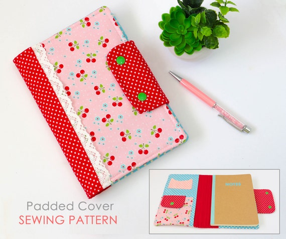 Journal Cover Sewing Pattern | Diary Cover Sewing Pattern | Notebook ...