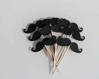 bigotes de 10 decoraciones para Cupcakes (toppers cupcake) para boda o aniversario