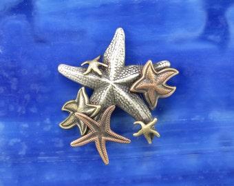 Starfish Brooch- Starfish Jewelry- Starfish Pin- Seashell Jewelry- Seashell Pin