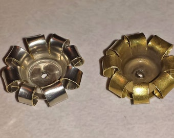 Nickel or Brass Flower Made From Spent Shell Casings