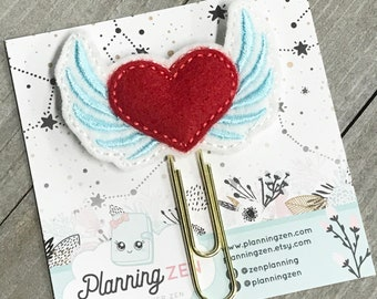 Heart with Wings Planner Clip