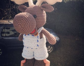 Crochet amigurumi Big moose toy